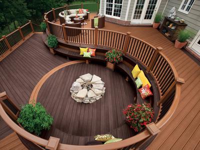 patio-backyard-with-circular-decks-designs