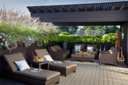 wooden-patio-deck-ideas-for-backyard-with-outdoor-furniture